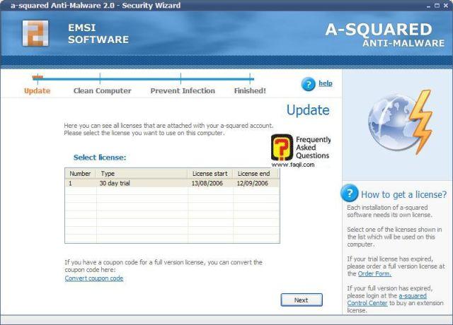 מידע על הפעלת 30 יום  free a squared
