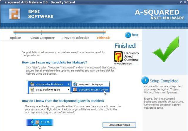הגדרת חומת האש של התוכנה ברקע, free a squared