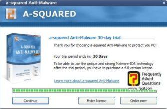 הודעה שהתוכנה לנסיון ל-30 יום ברקע, free a squared