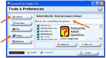 הגדרות Tools & Preferences, ב ad aware