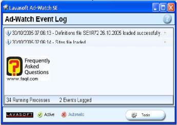 אירועים Ad Watch Event Log  , ב ad aware
