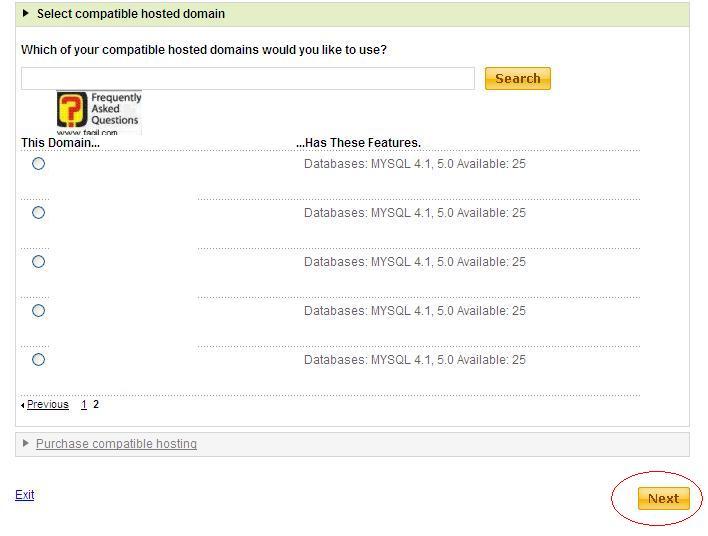 בחירת אתר במערכת תוכן , באחסון גודדי