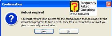 בחרו בכן, כדי להפעיל מחדש את המחשב,  כדי שיפעל  Acronis Privacy Expert