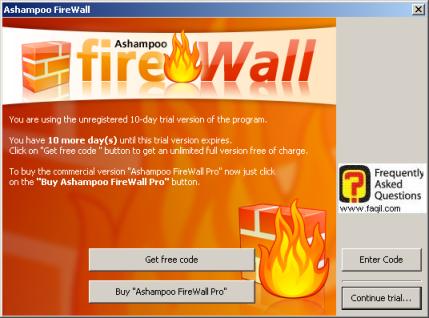 אופציה get free code, פיירוול ashampoo