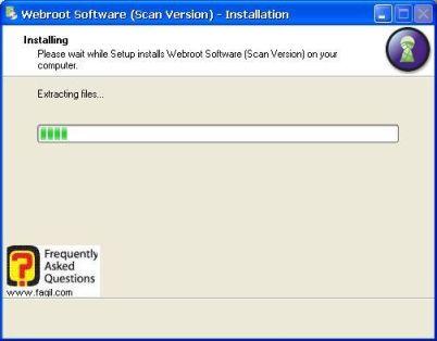 מסך התקנה -antivirus werboot