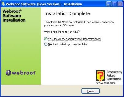 סיום ההתקנה-antivirus werboot