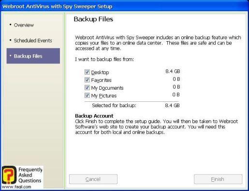 מסך גיבוי מסמכים-antivirus werboot