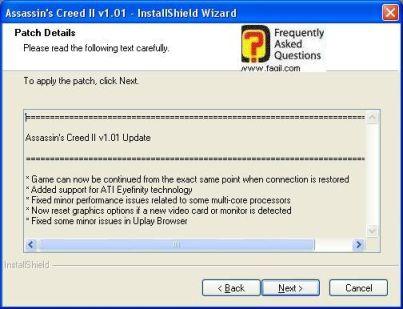 קרא לפני התקנת העדכון, Assassin creed ii