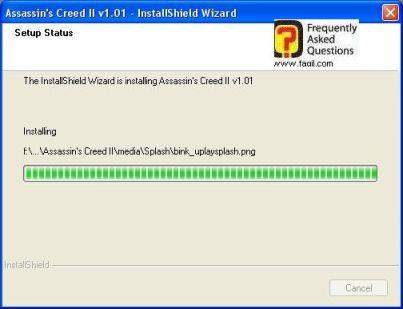 התקנת העדכון החלה, Assassin creed ii