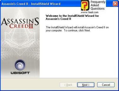 ברוכים הבאים להתקנה, Assassin creed ii > </P>  <p class=MsoNormal dir=RTL><span lang=HE style='font-family: