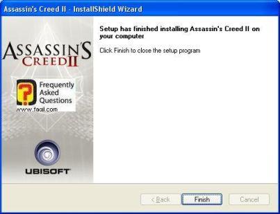 סיום ההתקנה, Assassin creed ii
