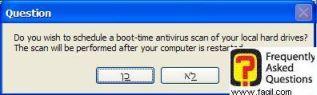 סריקת המחשב ב-dos , בהפעלה מחדש של המחשב עם avast