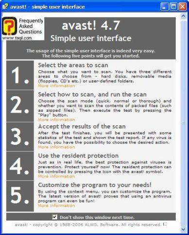 הסבר שימוש  ב אנטיוירוס Avast