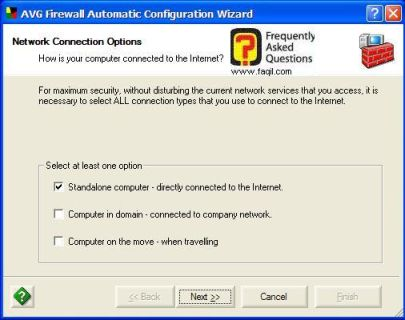 הגדרות אוטומטית ל AVG 7.5