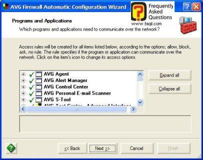 תוכניות שיבדקו עם  AVG 7.5