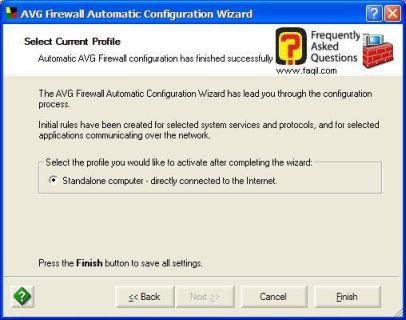 לחצו על סיום ההגדרות הראשונית  עם  AVG 7.5