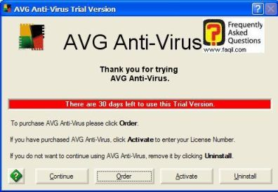 לחצו על המשך , כדי ש   AVG 7.5 יופעל