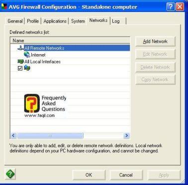 פרטים על החיבור, ב  AVG 7.5