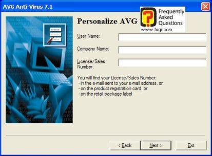 כתבו את הפרטים שלכם,  להתקנת AVG 7.5