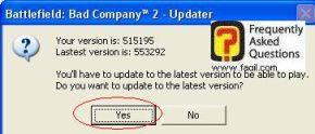 קיים עדכון חדש למשחק, המשחק Battlefield Bad Company 2  (באטפילד בד קומפני 2)