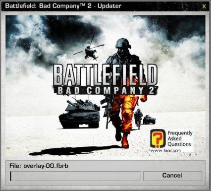 המתינו לסיום הורדה והתקנת העדכון, המשחק Battlefield Bad Company 2  (באטפילד בד קומפני 2) 2