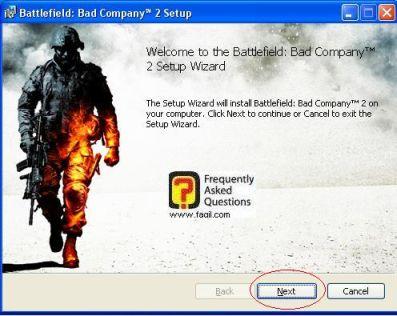 ברוכים הבאים להתקנה,המשחק Battlefield Bad Company 2  (באטפילד בד קומפני 2)