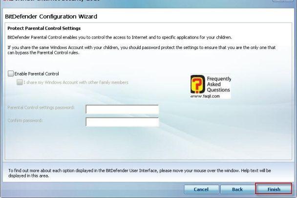 מסך הגנת אתרים ותכנים,BitDefender Internet Security 2010