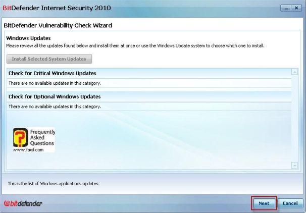 מה מצא כנקודות תורפה, BitDefender Internet Security 2010