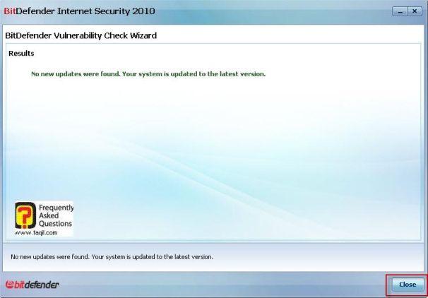 תוצאות נוספות לנקודות תורפה,BitDefender Internet Security 2010