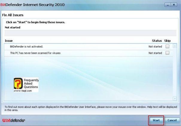 מה שנמצא לדוגמה כסכנה, BitDefender Internet Security 2010