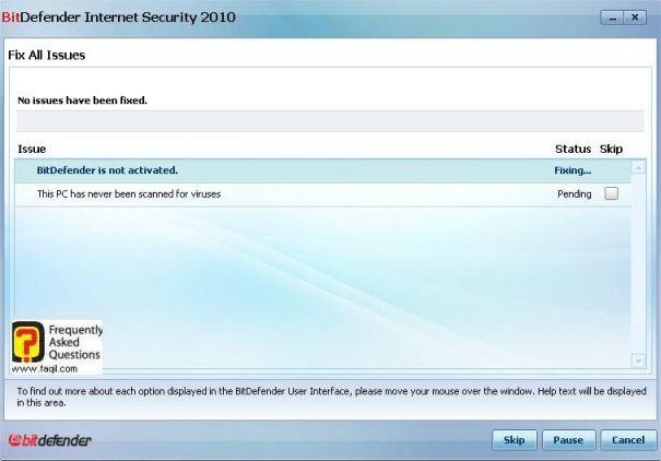 מתקן כעת את הסכנה, BitDefender Internet Security 2010