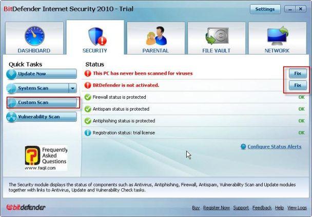 בחירה בתיקון, BitDefender Internet Security 2010