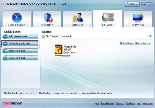סרת ערכי קבצים, BitDefender Internet Security 2010