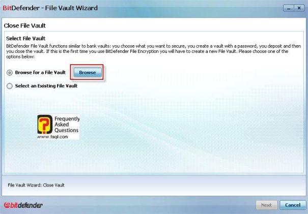 מיקום היעד של ערכי הקבצים נעולים,, BitDefender Internet Security 2010