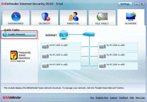 אשר חיבורי רשת, BitDefender Internet Security 2010