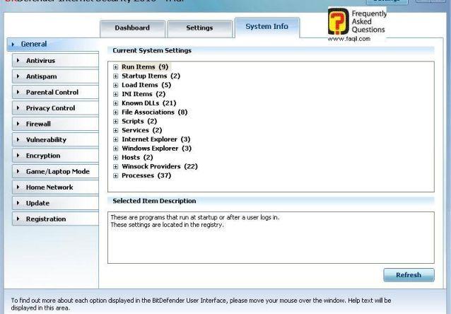 מידע כללי על יישומים, BitDefender Internet Security 2010