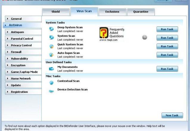 סריקת וירוסים-מידע על הרצות, BitDefender Internet Security 2010