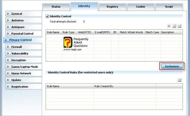 עורך הרישום לפרטיות, BitDefender Internet Security 2010