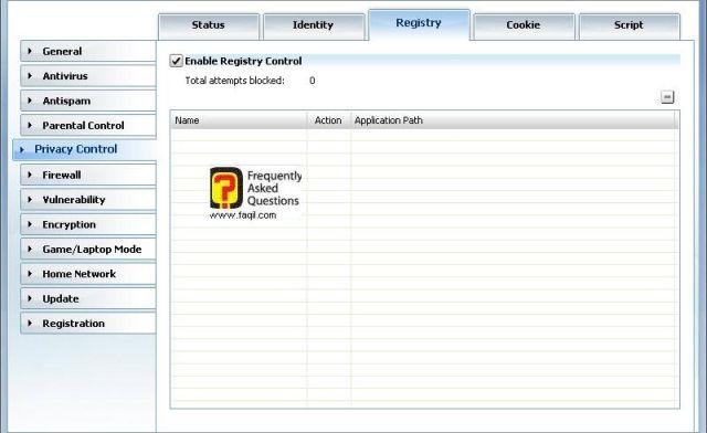 קוקיס-מה נחסם ומה לא, BitDefender Internet Security 2010