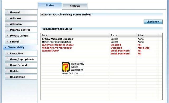 מה חשוף לפריצות, BitDefender Internet Security 2010