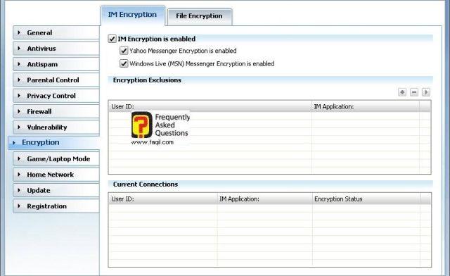 מאושר להצפנה תוכנות מסרים מידיים, BitDefender Internet Security 2010