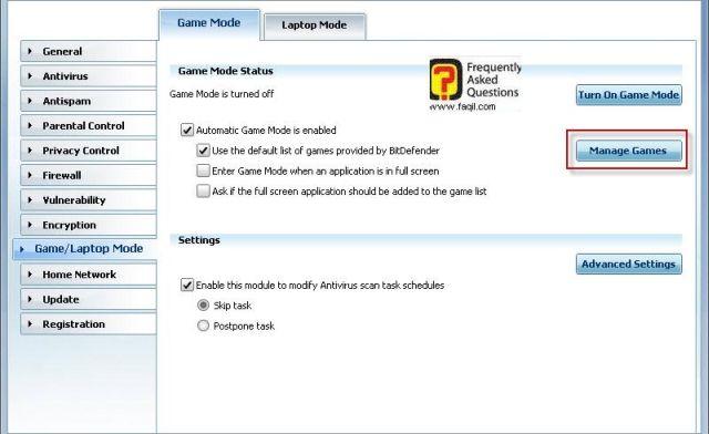 מצב משחק-ניהול משחק, BitDefender Internet Security 2010