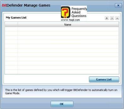 רשימת המשחקים המאושרת, BitDefender Internet Security 2010