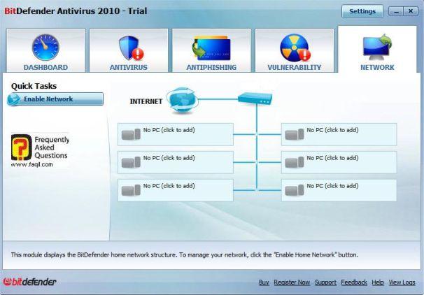 מסך חיבורי רשת,BitDefender Antivirus 2010