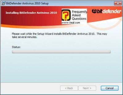 ההתקנה החלה,BitDefender Antivirus 2010