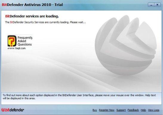 המתינו לטעינת מסך הראשי של האנטיוירוס,BitDefender Antivirus 2010