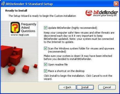 בחר בהתקן,אנטיוירוס BitDefender 9