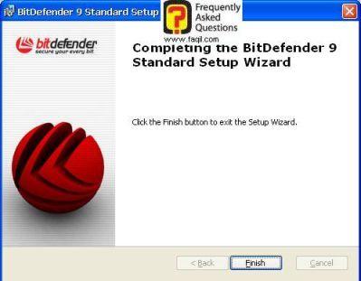 ההתקנה הסתיימה של  BitDefender 9