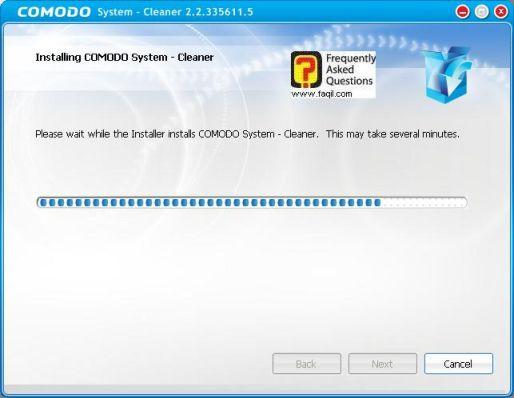 ההתקנה החלה,תוכנתComodo Registry Cleaner
