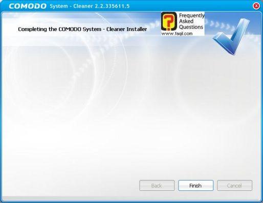 מסךסיים התקנה,תוכנתComodo Registry Cleaner